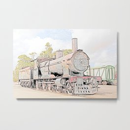 Rusting Steam Train Metal Print