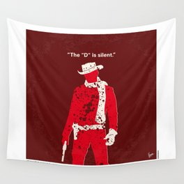 No184 My Django Unchained minimal movie poster Wall Tapestry