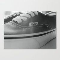 vans Canvas Prints featuring Vans by Kai Gee