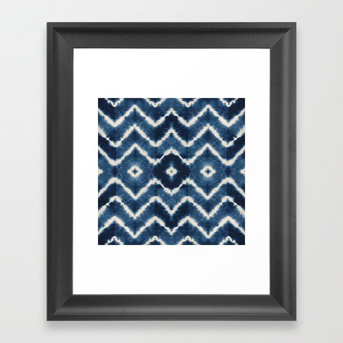 Shibori, tie dye, chevron print Gerahmter Kunstdruck