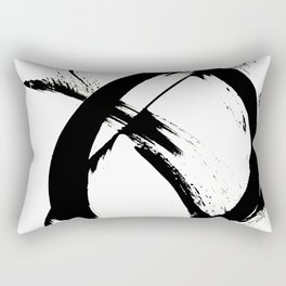 Brushstroke [7]: a minimal, abstract piece in black and white Rectangular Pillow