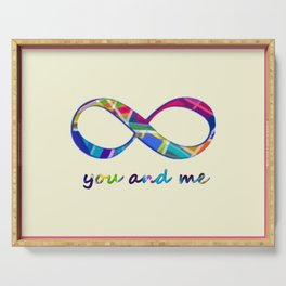 You and Me Infinity Serving Tray