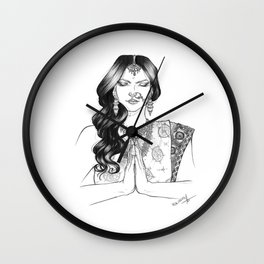 India - b&w version Wall Clock