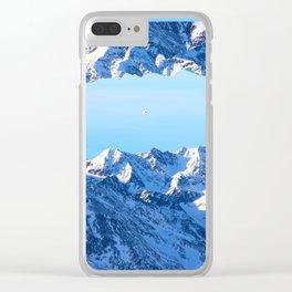 Interdimensional Travel Clear iPhone Case