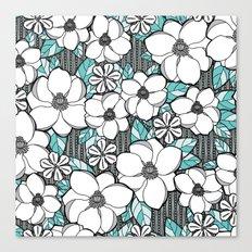 Midnight Magnolias Canvas Print