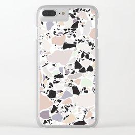 Pastel Terrazzo III. Clear iPhone Case