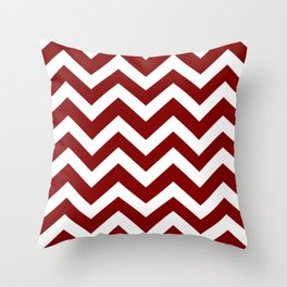 Maroon (HTML/CSS) - red color - Zigzag Chevron Pattern Throw Pillow