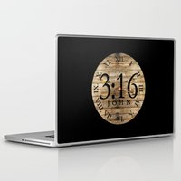 bible verses Laptop & iPad Skins featuring LOST VERSES FOUND by Miriam Hahn