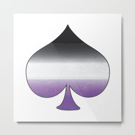 Asexual Ace Metal Print