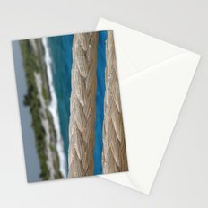 Rope by the sea Stationery Cards