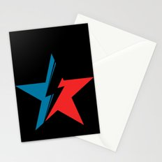 Bowie Star black Stationery Cards