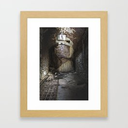 Tree roots in a cell Framed Art Print