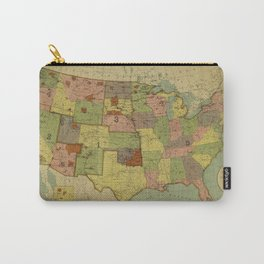 Map of Indian Reservations 1902 Carry-All Pouch