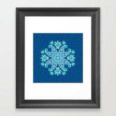Ornamental mandala Framed Art Print