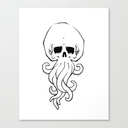 Tentacle Skull Canvas Print