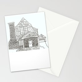 Berkley Rd House Black and White Stationery Cards