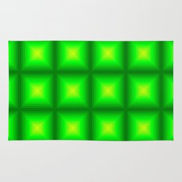 Green Squares Rug