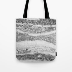 Marble - Silver White Marble Swirls Design Tote Bag