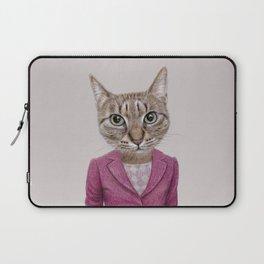 cat Mrs Laptop Sleeve