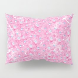 Hand painted pink blue watercolor hortensia floral Pillow Sham