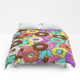 so many donuts Comforters
