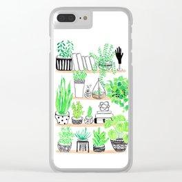Plant shelfie Clear iPhone Case