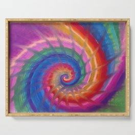 Spring into action with colour spirals Serving Tray