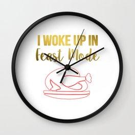 Turkey Foods Wall Clock