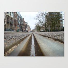 Amsterdam Tram Tracks Canvas Print