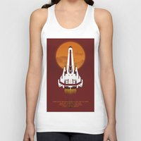 battlestar Tank Tops featuring Battlestar Galactica Viper MK II by jake