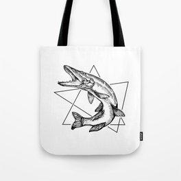 Fishing Pickerel Tote Bag