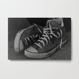 Scuffed Up Kicks Metal Print