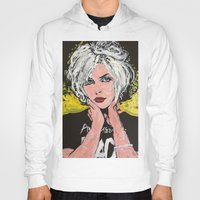 blondie Hoodies featuring Blondie by Matt Pecson