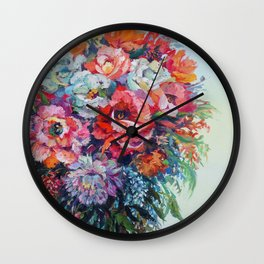Beautiful Blooms Wall Clock