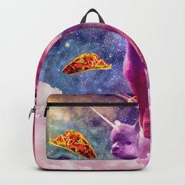 Cosmic Cat Riding Alpaca Unicorn Backpack