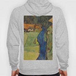 "Egon Schiele ""Stadt am blauen Fluss (Town on the blue river)"" Hoody"