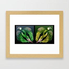 Angels Green & Gold Framed Art Print