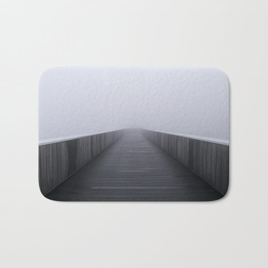 """Fog in the bridge"" Bath Mat"