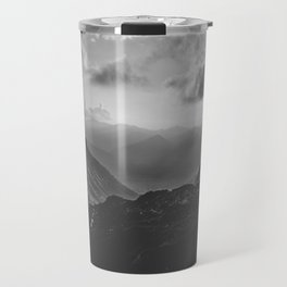 Valley - black and white landscape photography Travel Mug