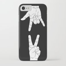Peace Love and Rock N Roll iPhone 7 Slim Case