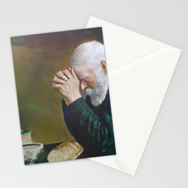 Eric Enstrom Grace Man Praying Over Bread Stationery Cards