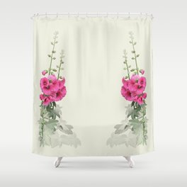 Pink flowers, watercolors Shower Curtain