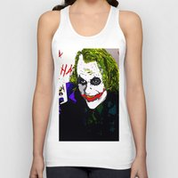 the joker Tank Tops featuring joker by Saundra Myles