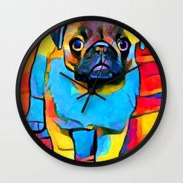 Pug 2 Wall Clock