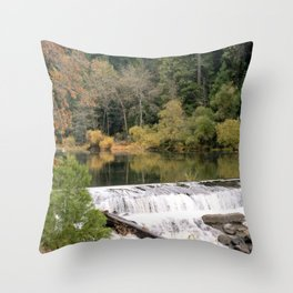 Glassy with a Break Throw Pillow