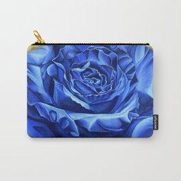 Blue Rose Graffiti, realism, gold, flower, dia de los muertos Carry-All Pouch