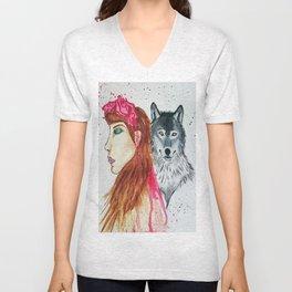 She Wolf Unisex V-Neck