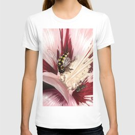 Wasp on flower 7 T-shirt