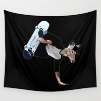 the dude Wall Tapestries featuring Deer Dude by Nyl Rotse