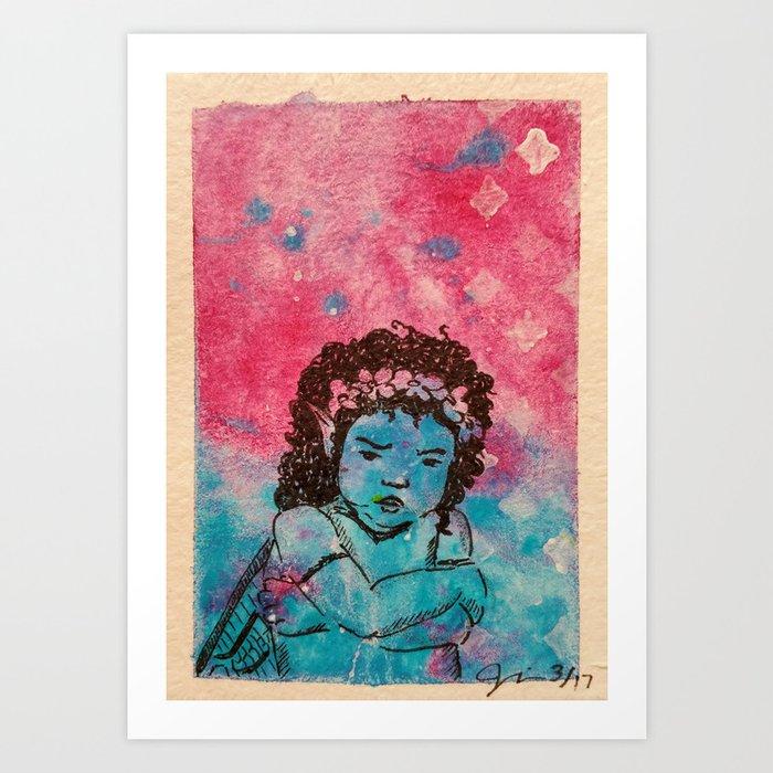 Having a No Good, Very Bad Day ( Grumpy Fairy ) Art Print